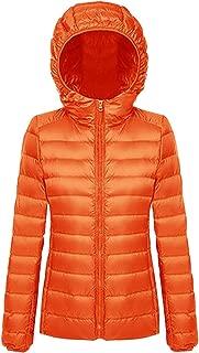 BOZEVON Women's Hooded Packable Ultra Light Weight Short Down Jacket Outdoor Coat