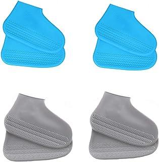 LWZko 4 Coppie Copriscarpe Impermeabili, Copriscarpe In Silicone, Antiscivolo Impermeabile Riutilizzabile Silicone Coprisc...