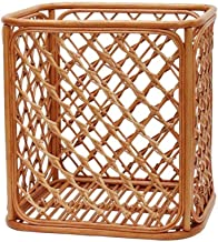 JUAN Basket Seagrass Storage Shelf Basket With Insert Handles (Color : Brown, Size : Large)