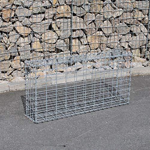 IHD Gabionen Steingabionen Steinkorb Wand Drahtkorb Draht Mauer 20 cm tief 5x10 cm 100x50x20cm