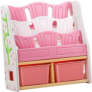 Chang Xiang Ya Shop Scaffale Piccolo/Libreria Scaffale/Scaffale Design/Scaffale Mobile/Scaffale Box Portalibri (Color : Pink)