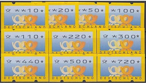 Goldhahn BRD Bund ATM 3.3 TS2 postfrisch  10 20 50 100 110 220 300 440  500 720  Posthorn+Wertziffern mager Briefmarken für Sammler