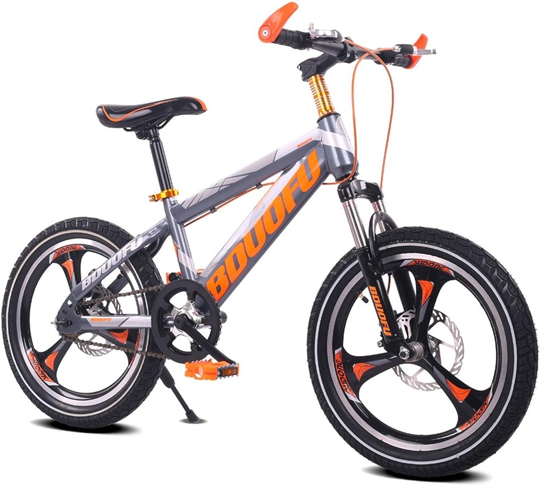mejor marca LXYFMS Bicicleta para Niños 16 18 18 18 20 Pulgadas Bicicleta de Montaña 5 8 10 14 años Hombre y Mujer de Niño Bicicleta Marco de Acero de Alto Cochebono, Naranja verde Rojo Azul Bicicleta para Niños  ahorra hasta un 30-50% de descuento