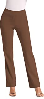 Dress Pants for Women-Slim Bootcut Stretch High Waist Trousers with All Day Comfort Pull On Style