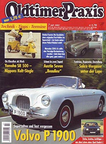 Oldtimer Praxis Nr. 07/2002 Superselten und fast vergessen Volvo P 1900