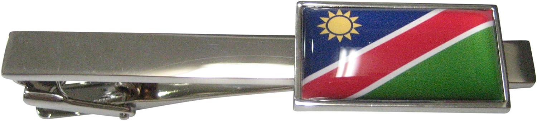 Kiola Designs Thin Bordered Republic of Namibia Flag Tie Clip