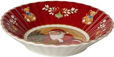 Villeroy & Boch - Toy's Fantasy Petite Coupe Motif Père Noël Apportant des Cadeaux, Coupe Décorative en Porcelaine Pr