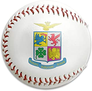 Citrolan GlamourRUN Coat of Arms of The Italian Air Force Baseballs Standard Low Impact Safety Baseball for Practice, Competitions, Gifts, Keepsakes, Arts and Crafts, Trophies