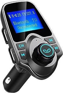 comprar comparacion Manos Libres Bluetooth Transmisor FM Coche de VicTsing, Reproductor MP3 Coche, Adaptador de Radio, 1.44 Pulgadas Cargador ...