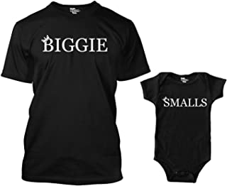 Biggie/Smalls Matching Bodysuit & Men's T-Shirt
