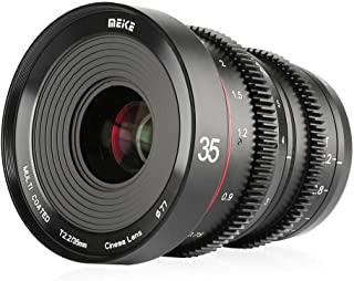 MEKE 35mm T2.2 Large Aperture Manual Focus Low Distortion 4K Mini Cine Lens for Micro Four Thirds M43 MFT Olympus Panasoni...