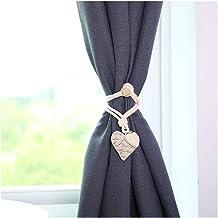Clip Rings Mooie hartvorm Gordijn Clip Gratis Punch Magnetic Gordijnen Tieback Buckle Holder Gordijn Riemen huis decoratie...
