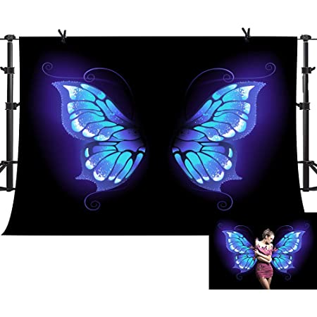 6x6FT Vinyl Photo Backdrops,Animal,Painting Style Butterflies Background for Selfie Birthday Party Pictures Photo Booth Shoot