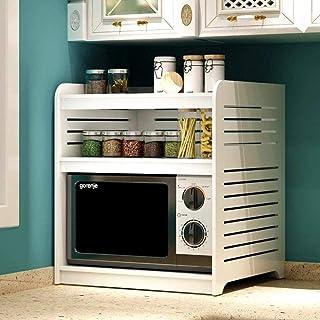 Rejilla de Horno de microondas Rejilla de Almacenamiento Elegante y Minimalista para Cocina Rejilla de Almacenamiento mult...