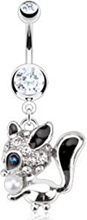 Best squirrel belly button rings Reviews