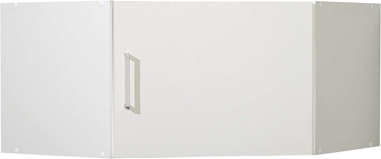 WILMES 40146-75 0 75 Eckaufsatz Ronny, 1 Tür, Dekor Melamin, 75 x 40 x 75 cm, wei