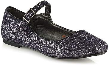 Amazon.co.uk: Black Sparkly Shoes