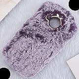 Meitu T9 Wool Mobile Phone Case, Soft Fluffy Thin Handmade Warm Hair Winter Cover, WEIFA Eye-Catching Luxury Girl Slim Phone Case For Meitu T9 Purple