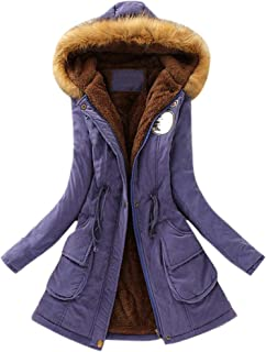 0d62f0b618ca LISTHA Warm Long Coat Hooded Outwear Women Fur Collar Winter Jacket Sweater