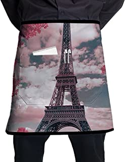 Nicokee Chef Aprons France Paris Eiffel Tower Waist Tie Half Bistro Apron For Home Kitchen Cooking