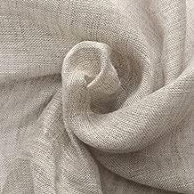 ハンドメイド用生地 150cm巾 リネン100% 無地 ナチュラル 薄地ガーゼ R0232(旧品番 N-2320)