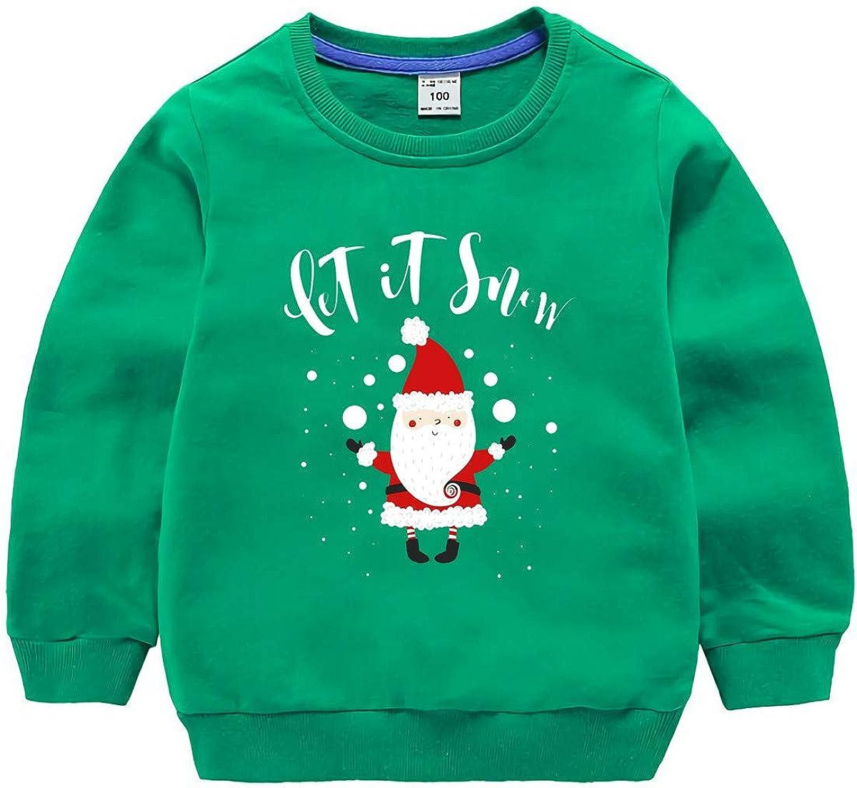 BesserBay Kids Christmas Ugly Sweatshirt Xmas Long Sleeve Funny Shirt 3-12 Years
