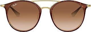 Ray-Ban Girl's 0rj9545s Round Sunglasses, GOLD ON TOP HAVANA, 50.8 mm