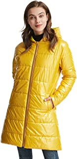 Womens Autumn Long Jacket - Water Resistant Rain Coat, Lightweight Ladies Jacket, 2 Front Pockets, Warm - for Wet Weather, Walking