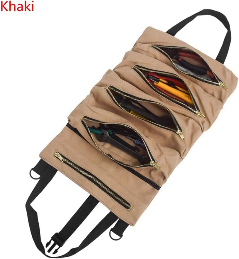 Car Super Roll Tool Zipper Bag Multi-Purpose Canvas Roll Up Bag