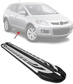 OMAC Trilho de barra lateral para estribos de corrida | Serve para Mazda CX-7 2006-2012 barras Nerf cinza e preto 2 peças....