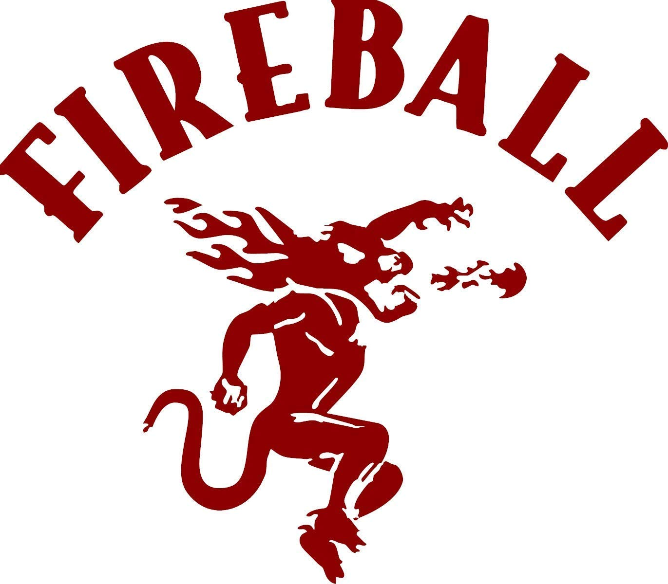 COMPATIBLE Max 84% OFF FIREBALL DECAL WISKEY STICKER 4 years warranty