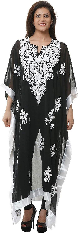 creativegifts Women Kimono Beach Kashmiri Caftan Georgette Swimwear Swimsuit Bikini Cover up Kaftan (DX001IJRC2H)