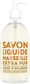 Compagnie de Provence Savon de Marseille Extra Pure Liquid Soap - Orange Blossom - 16.9 Fl Oz Glass Pump Bottle