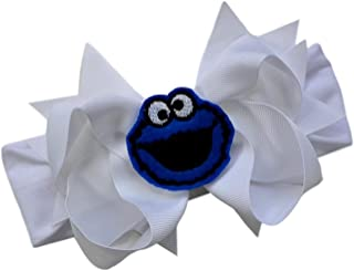Little Monster Baby Bow Headband Funny Girl Designs
