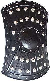 "AnNafi Medieval Barbarian Armor Templar Viking 18"" Iron Shield| Handmade Battle Ready Functional Warrior Metal Shield Black"