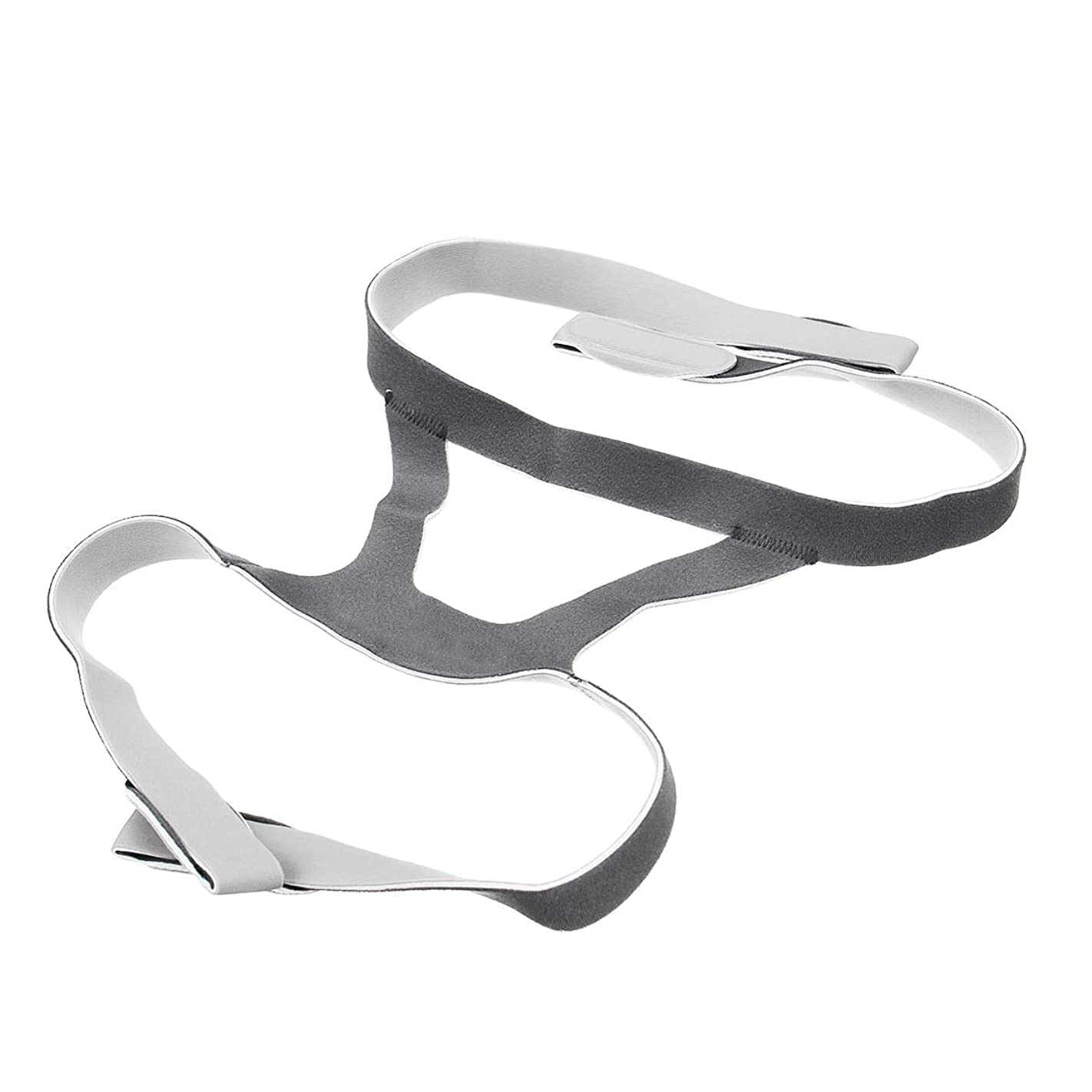 もっと火山無臭NOTE ユニバーサルヘッドギアCPAPマスク弾性繊維いびき防止ヘッドバンド鼻マスクヘッドベルトフェイスマスクストラップ用援助睡眠