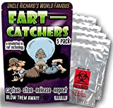 Gears Out Fart Catchers – 5 Pack – Funny Gag Gifts for Men – Silly Gifts – Biohazard Bags – Gifts for Teens – Silly Stocking Stuffers - Funny Butt Gifts