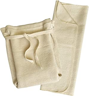Washable Organic Diapers – Cotton Fitted Cloth Diaper with Diaper Booster Pads for Baby and Toddler
