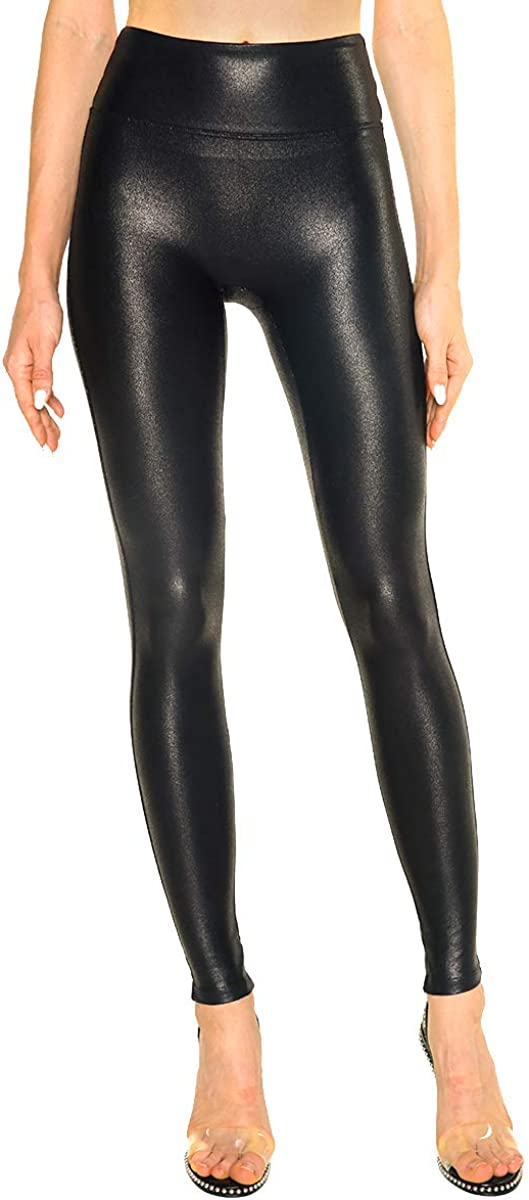Tagoo Womens Faux Leather Leggings Stretch High Waisted Pleather Pants