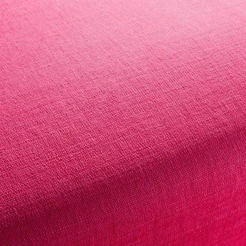 Chivasso Möbelstoff HOT Madison Reloaded Uni Farbe pink als robuster Bezugsstoff, Polsterstoff pink Uni zum Nähen und Beziehen, Baumwolle,...