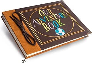 Premium Our Adventure Book Photo Album Scrapbook, Anniversary Gift for Couple, Wedding Scrap Book with Sewn Words, Faux Suede Hard Cover & Thick White Paper Sheets, Fantastic Gifts for Her and Him