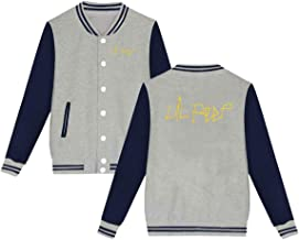 Caiondliil Unisex Funny Lil Peep Logo Gift Baseball Uniform Jacket Plus Velvet