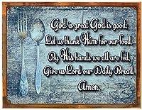神は偉大な祝福の金属の標識で、人の心を鼓舞して、キリスト教徒、炊事場は錫の缶の上で飾ります