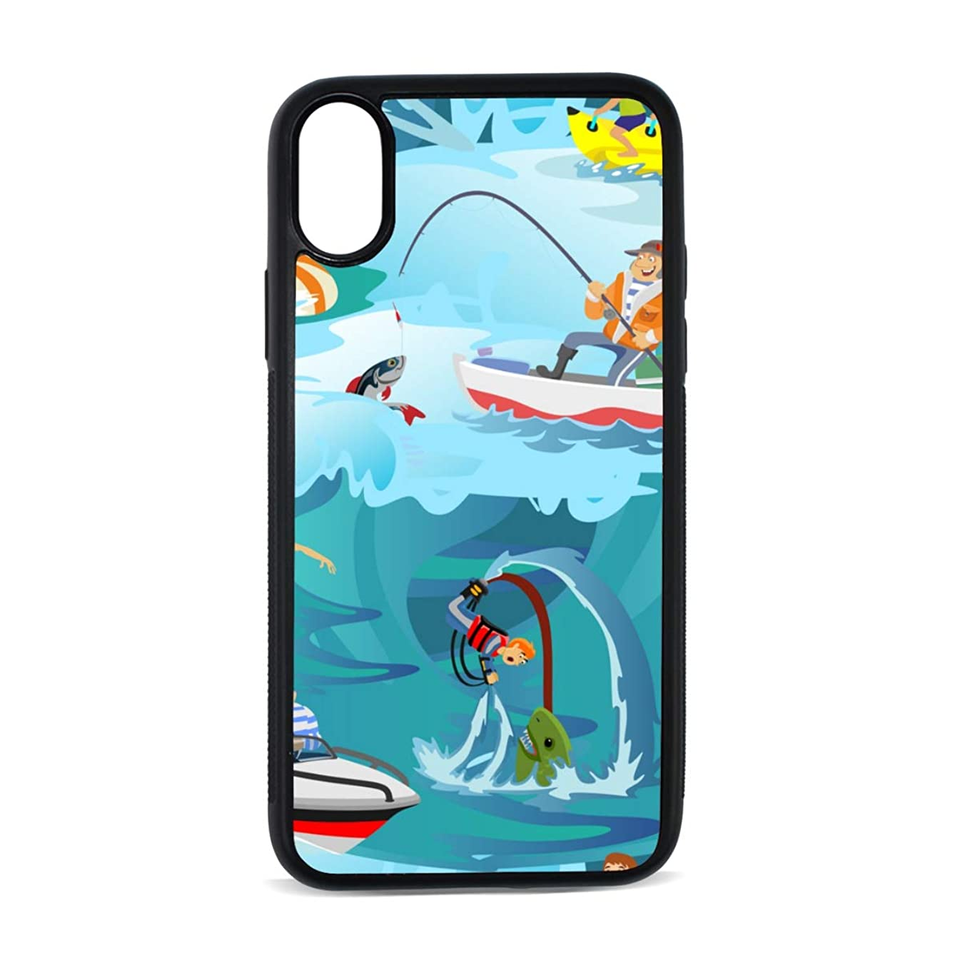 Windsurfing Extreme Sports Cool Digital Print TPU Pc Pearl Plate Cover Phone Hard Case Cell Phone Accessories Compatible with Protective Apple Iphonex/xs Case 5.8 Inch
