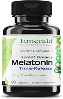 Emerald Labs Melatonin Time Release (3 mg) - Supports Relaxation and Healthy Sleep Patterns, Energy Levels, Better Overall...