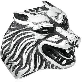 YANIBB Anillo Animal Motorista Anillos de Titanio Anillo de Acero Drag/ón Drag/ón 3D drag/ón Chino