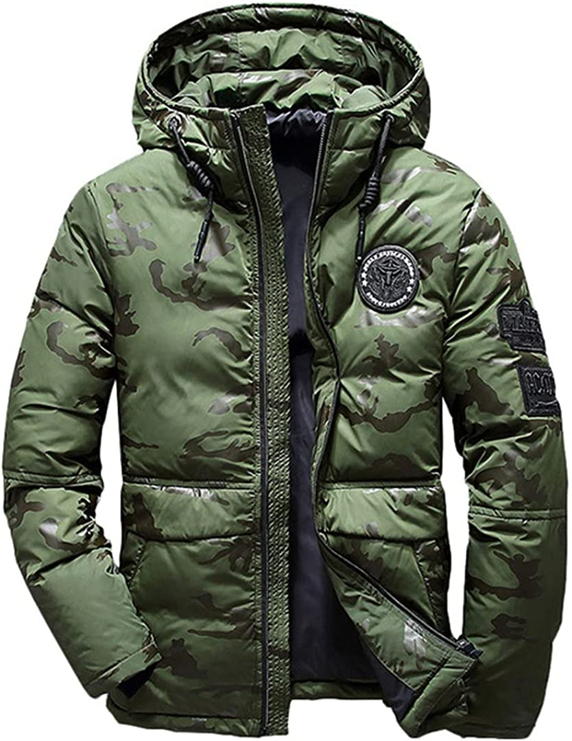 White Duck Down Jacket Men Military Camouflage Parka Jackets Thick Warm Feather Jacket