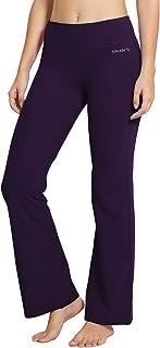 BALEAF Women's Regular/Tall High Waisted Bootcut Yoga Pants Bootleg Workout Pants Inner Pocket