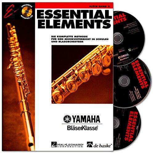 Essential Elements Band 2 per flauto traverso – edizione tedesca con 3 CD della serie Yamaha classe – il metodo completo per l'insegnamento di musica nelle scuole e negli orchestri della vescica