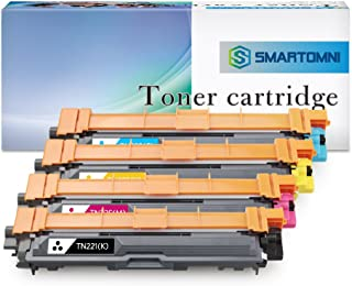 S SMARTOMNI Compatible Toner Cartridge Replacement for Brother TN221 TN225 (KCMY 4-Pack), Compatible use with Brother HL-3140CW HL-3170CDW HL-3180 MFC-9130CW MFC-9330CDW MFC-9340CDW DCP-9020
